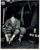 Elmer Lach Autographed Montreal Canadiens 8x10 Photo #2