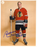 Bobby Hull Autographed Chicago Blackhawks 8x10 Photo #4