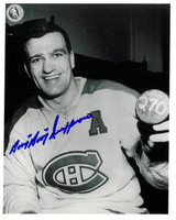 "Bernie ""Boom-Boom"" Geoffrion Autographed Montreal Canadiens 8x10 Photo #1"