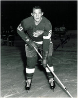 Bill Gadsby Autographed Detroit Red Wings 8x10 Photo #3