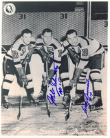 Woody Dumart and Milt Schmidt Autographed Boston Bruins 8x10 Photo #1