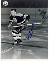 Woody Dumart Autographed Boston Bruins 8x10 Photo