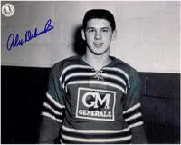 Alex Delvecchio Autographed Oshawa Generals 8x10 Photo #3