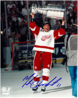 Mathieu Dandenault Autographed Detroit Red Wings 8x10 Photo