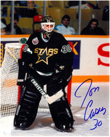 Jon Casey Autographed Minnesota North Stars 8x10 Photo