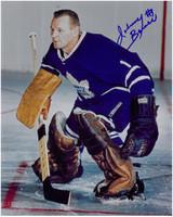 Johnny Bower Autographed Toronto Maple Leafs 8x10 Photo #4