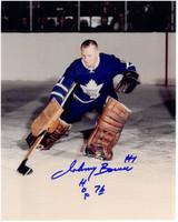 Johnny Bower Autographed Toronto Maple Leafs 8x10 Photo #3
