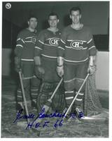 Emile Bouchard Autographed Montreal Canadiens 8x10 Photo