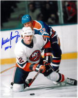 Mike Bossy Autographed New York Islanders 8x10 Photo