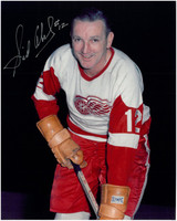 Sid Abel Autographed Detroit Red Wings 8x10 Photo #12