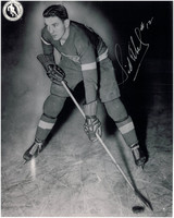 Sid Abel Autographed Detroit Red Wings 8x10 Photo #11