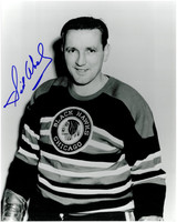 Sid Abel Autographed Chicago Blackhawks 8x10 Photo #8