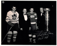 Sid Abel Autographed Detroit Red Wings 8x10 Photo #3