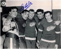 Sid Abel Autographed Detroit Red Wings 8x10 Photo #2