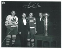 Sid Abel Autographed Detroit Red Wings 8x10 Photo #1