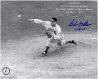 Bob Feller Autographed Cleveland Indians 8x10 Photo #7
