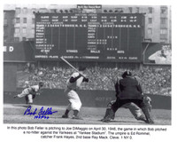 Bob Feller Autographed Cleveland Indians 8x10 Photo #2