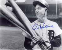 Al Kaline Autographed Detroit Tigers 8x10 Photo - Holding Bats