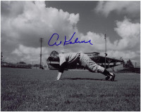 Al Kaline Autographed Detroit Tigers 8x10 Photo - Doing a Push-up