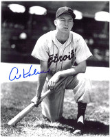 Al Kaline Autographed Detroit Tigers 8x10 Photo - Rookie Kneeling