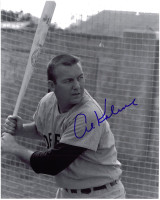 Al Kaline Autographed Detroit Tigers 8x10 Photo - Batting Cage (Vert.)