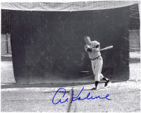 Al Kaline Autographed Detroit Tigers 8x10 Photo - Batting Cage (Hor.)
