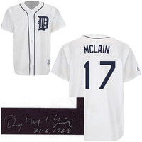 "Denny McLain Autographed Detroit Tigers Jersey w/ ""31-6, 1968"" Inscription"
