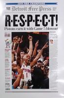 """""""R-E-S-P-E-C-T"""" 2004 Detroit Pistons Free Press Poster"""