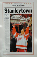 """Stanleytown"" 1997 Detroit Red Wings Free Press Poster"