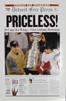 """Priceless"" 2002 Detroit Red Wings Free Press Poster"
