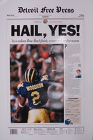 """Hail Yes"" 1997 Michigan Wolverines Free Press Poster"