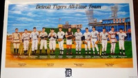 Detroit Tigers All-Time Team Poster