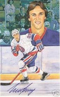 Mike Bossy Autographed Legends of Hockey Card
