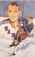 Bill Gadsby Autographed Legends of Hockey Card