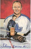 Johnny Bower Autographed Legends of Hockey Card