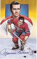 "Maurice ""Rocket"" Richard Autographed Legends of Hockey Card"