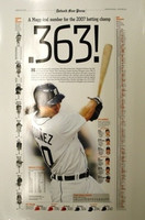 """.363"" Magglio Ordonez 2007 Batting Champ Free Press Poster"
