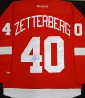 Henrik Zetterberg Autographed Detroit Red Wings Home Jersey (Pre-Order)