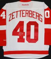 Henrik Zetterberg Autographed Detroit Red Wings Road Jersey (Pre-Order)