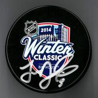 Justin Abdelkader Autographed 2014 Winter Classic Souvenir Puck (Pre-Order)