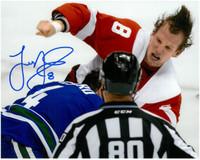 Justin Abdelkader Autographed 8x10 Photo #2 - Fight vs. Ballard (Pre-Order)