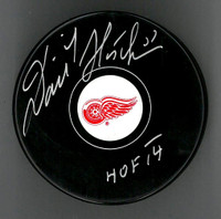 Dominik Hasek Autographed Puck Inscribed