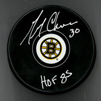 Gerry Cheevers Autographed Puck