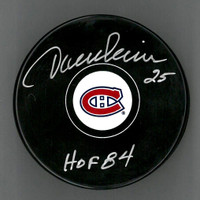 Jacques Lemaire Autographed Puck Inscribed