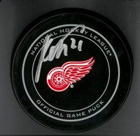 Tomas Tatar Autographed Game Puck
