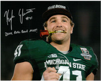 Kyler Elsworth Autographed Michigan State Spartans 8x10 Photo #5 - 100th Rose Bowl