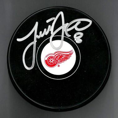 Justin Abdelkader Autographed Puck