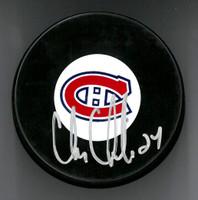 Chris Chelios Autographed Puck