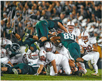 "Kyler Elsworth Autographed Michigan State Spartans 8x10 Photo #3 - ""The Stop"" Top of the Pile"