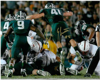 """Kyler Elsworth Autographed Michigan State Spartans 8x10 Photo #2 - """"The Stop"""" Full Color"""